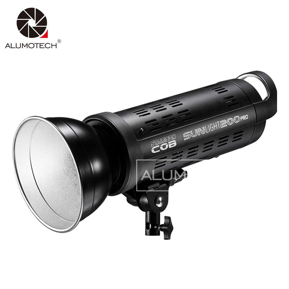 Fresnel, luz LED de 200 W, iluminación solar, luz de día, Flash de relleno para cámara de estudio de fotografía, equipo de Video