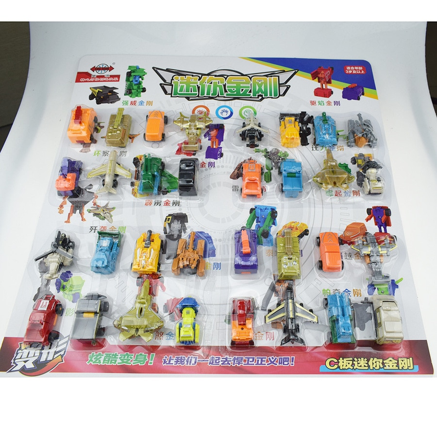 32pcs Transformation Robots Children Gifts Action Figure Deformation Car Military Boy Toys