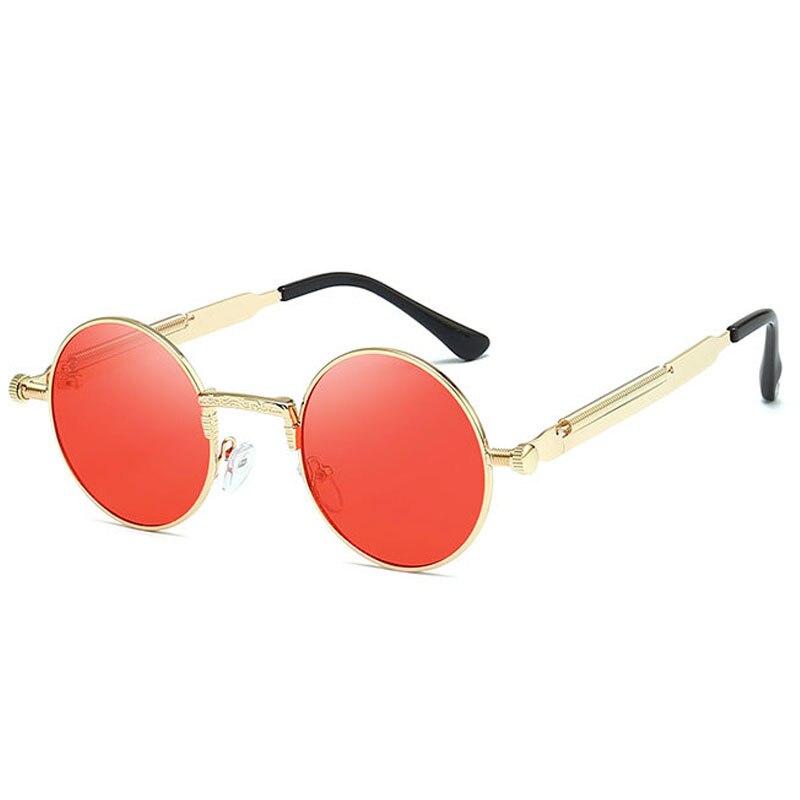Мужские и женские Винтажные Солнцезащитные очки в стиле стимпанк модные