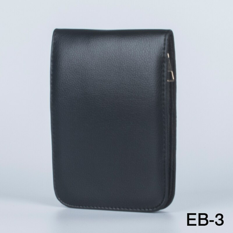 Fountain Rollerball Pen Case Holder PU Leather for 12 Pens - Black pencil bag luxury school case