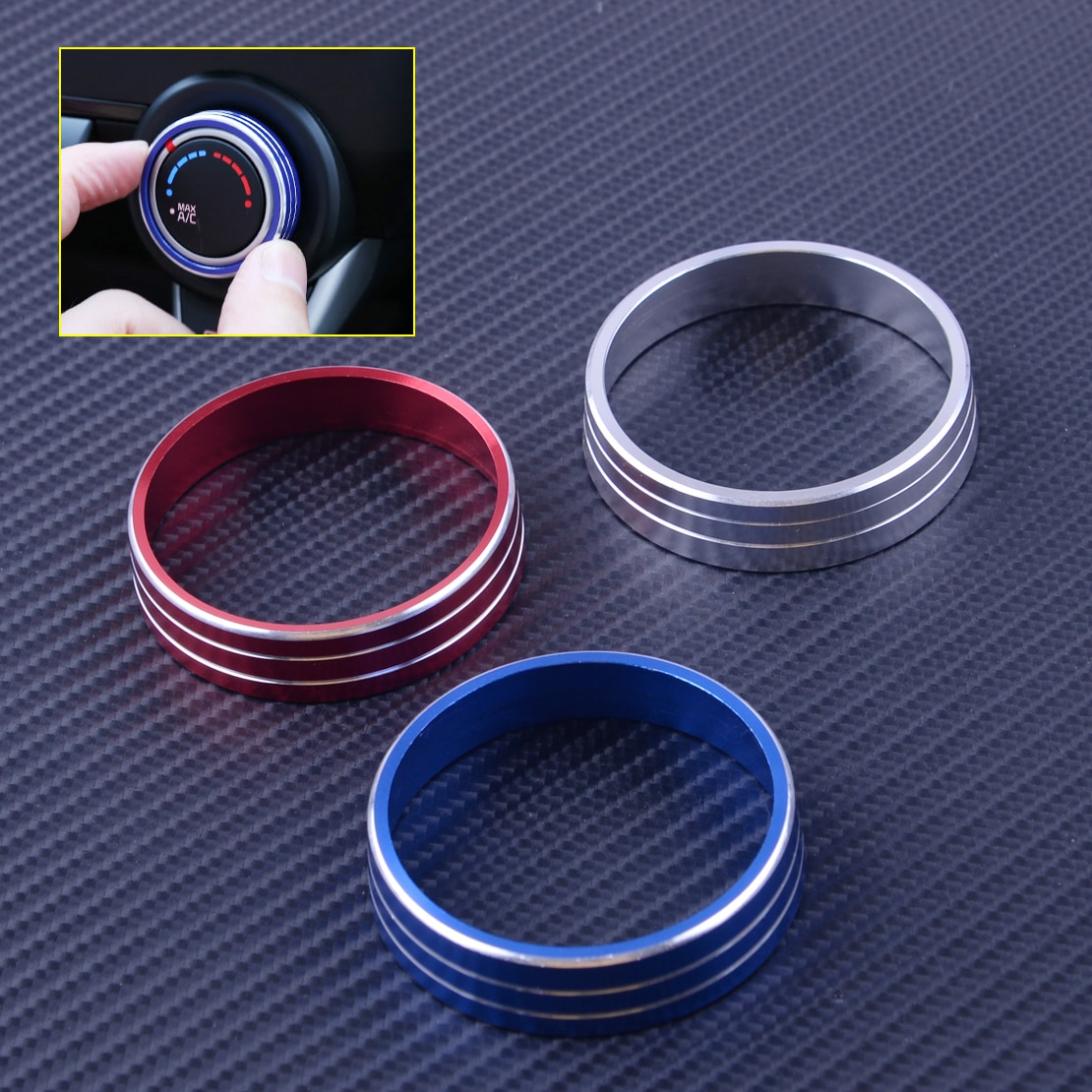 Cigall Car A/C calentador interruptor de control de aire acondicionado Panel botones tapa de perillas anillo de ajuste adecuado para Mitsubishi Lancer Outlander Accesorios