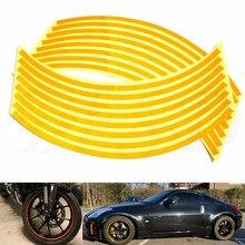 Autocollants réfléchissants de jante de pneu de moto   Autocollants de jante de 17
