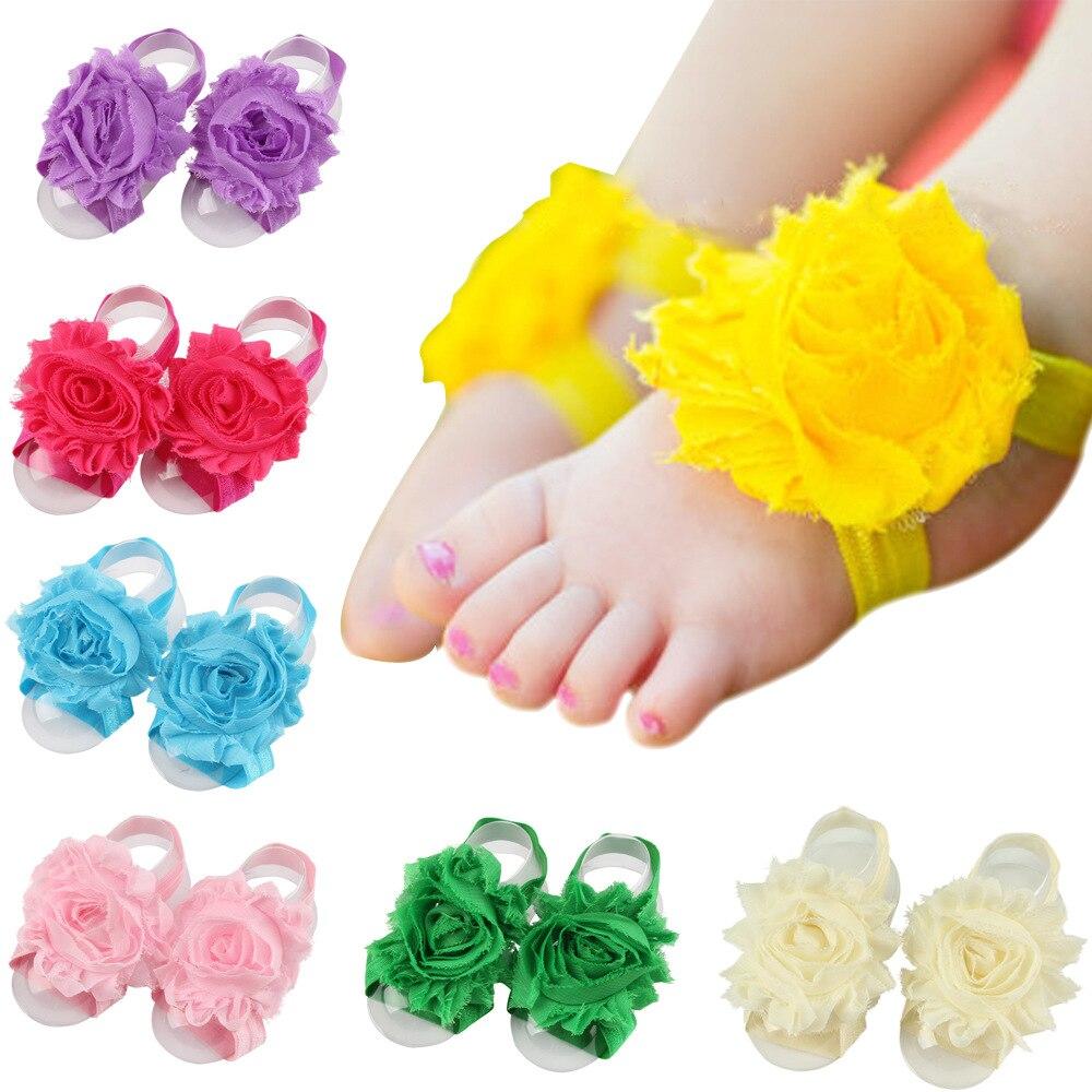 Милые сандалии для маленьких девочек, сандалии со складками, носки с цветочным узором, на босую ногу, обувь с цветочным рисунком для малышей,...