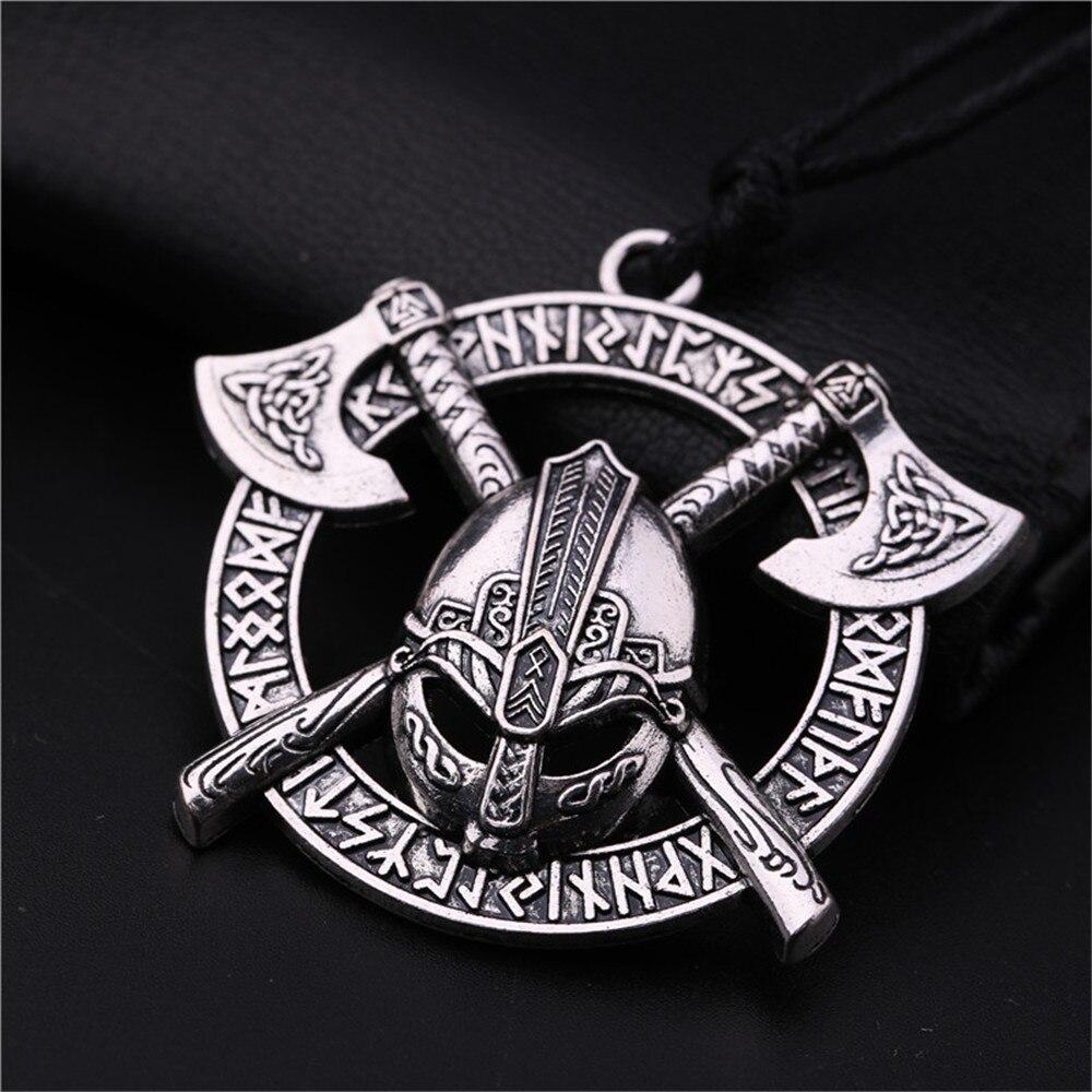 Teamer Viking мужское ожерелье с подвеской в виде шлема Odin Raven, славянский амулет, серебряное ожерелье в винтажном стиле