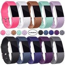 Coolaxy 3D сменные ремешки, для браслета Fitbit Charge 2 цвета, мягкие силиконовые умные часы, спортивный браслет, ремешок для Fitbit Charge2 Band
