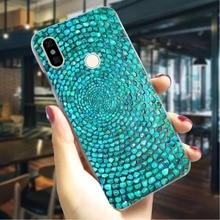 Hard Case for Xiaomi Mi 9se Turquoise Sapphire Cover for Xiaomi Mi 8 Lite A1 Cover A2 6 F1  Back Skin Hybrid
