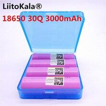 4 LiitoKala 100% original INR 18650 30Q INR18650 batterien 3,7 V 3000 mAh lithium-ionen akku