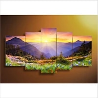 100 handpainted 5 piece modern abstract oil painting on canvas wall art beautiful landscape pictures for living room home decor