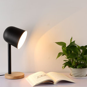 Nordic Table Lamp For Living room Study Baby room Kitchen luminaria de mesa with Black White Lampshade bedside lamp abajur
