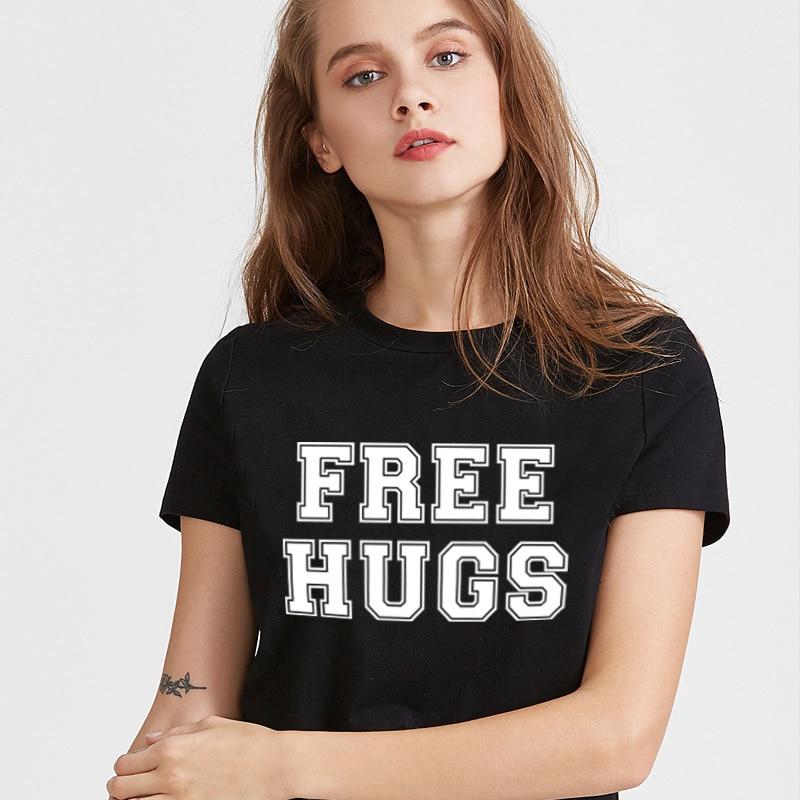 2019 Summer Fashion women's English Letter Printing Pattern T-shirt short-sleeved Round Neck Slim Casual T-shirt