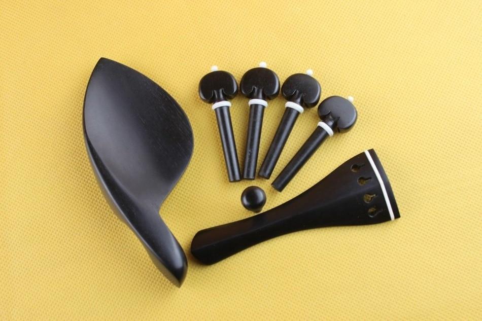 1 conjunto de accesorios de Violín de ébano Luthier tamaño 4/4 muy...