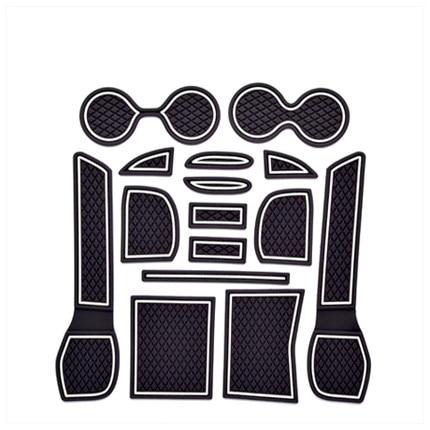 Para Nissan X-Trail X rastro XTrail de 2014, 2015 de 2016 puerta ranura esteras antideslizantes taza cojín antideslizante puerta ranura alfombrilla accesorios para coche 15 piezas