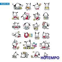 Sanrio Pochacco autocollants dessin animé mignon chien pour fille enfants enfants cadeau lettre à décorer journal Scrapbooking papeterie Pegatinas autocollant