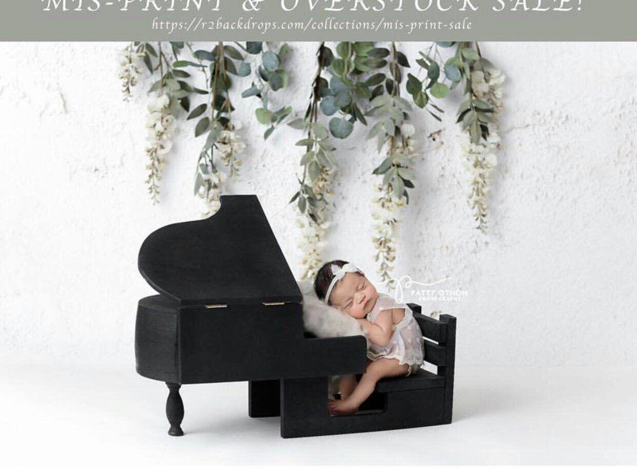 Newborn photography props retro literary style piano props baby hundred days party handmade custom studio photography