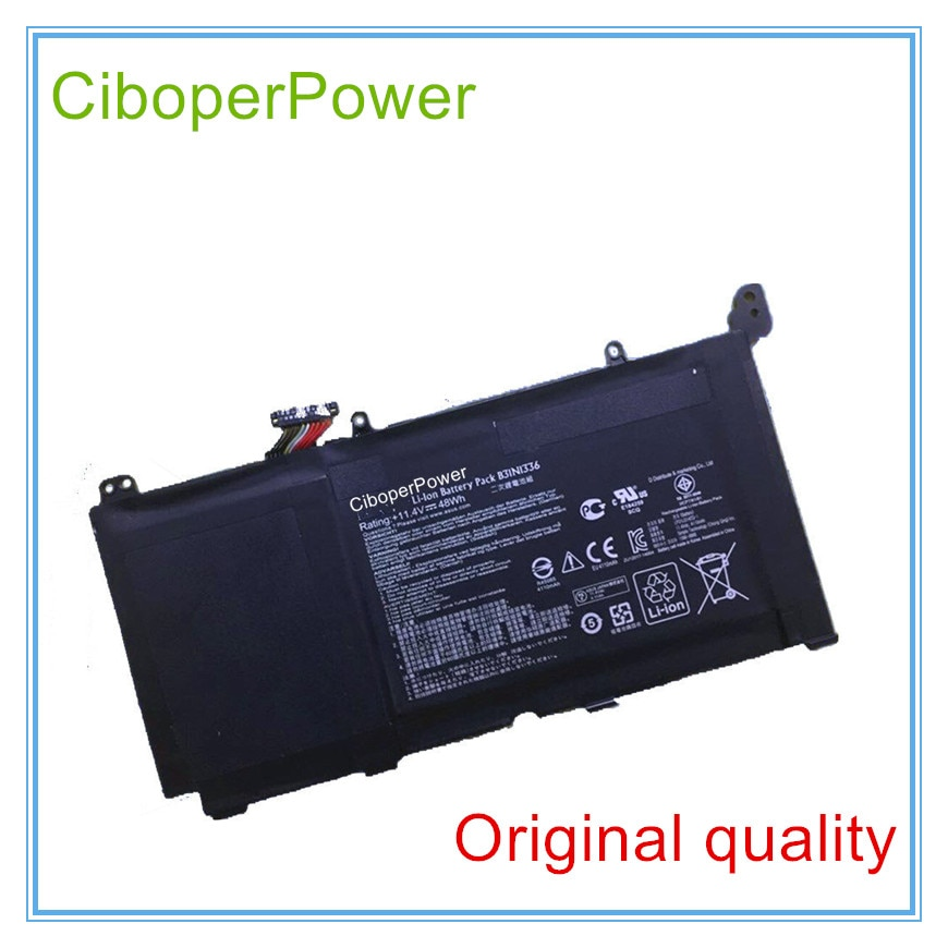Batterie originale 11.4V 48WH B31N1336 pour S551LN-1A S551 B31N1336 0B200-00450500