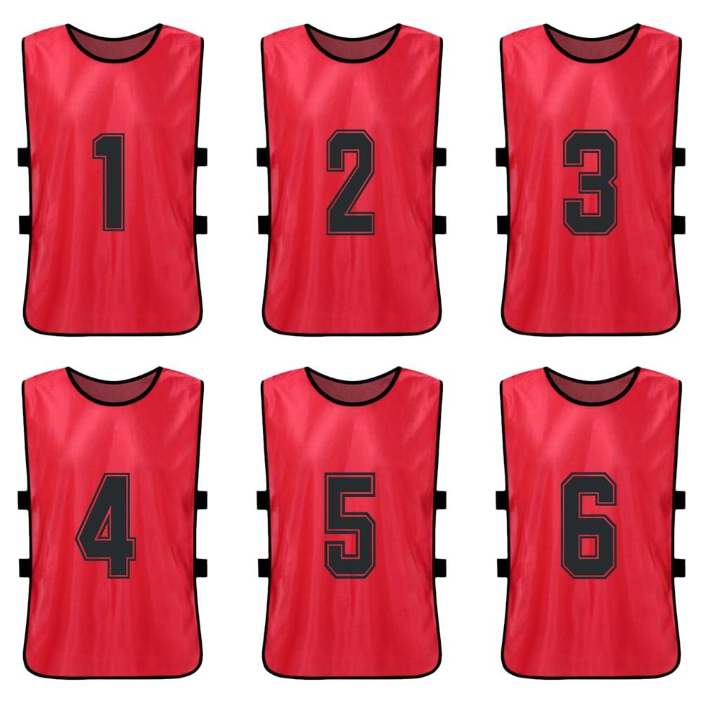 6 uds chico de baloncesto Pinnies de secado rápido camisetas de baloncesto juvenil deportes Scrimmage equipo de fútbol entrenamiento Baberos Chaleco de entrenamiento