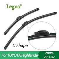 legua wiper blades for toyota highlander 2008 2026car wiperboneless windscreen windshield wipers car accessory