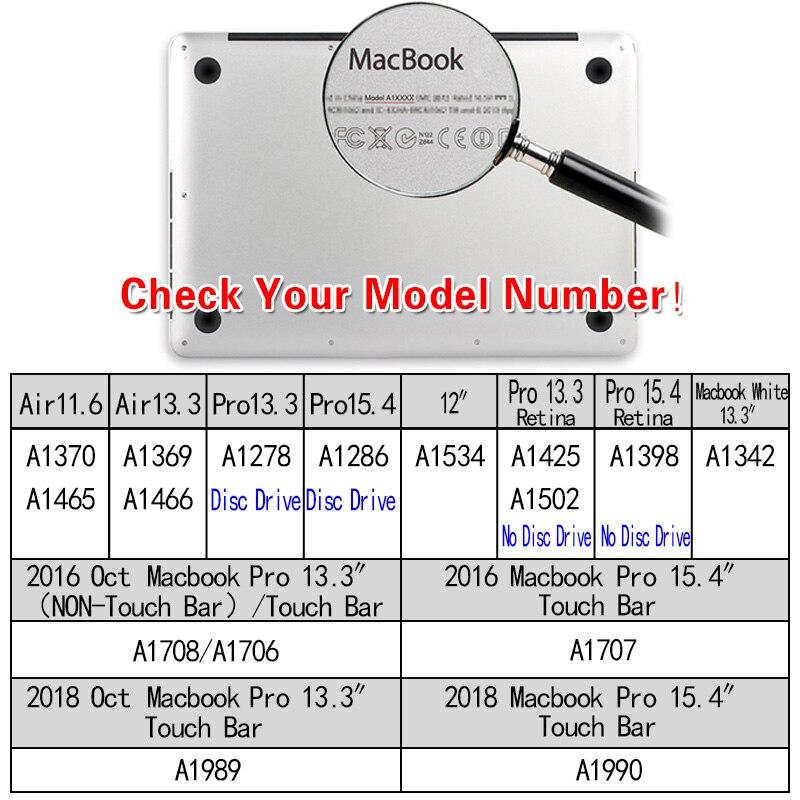 Купить с кэшбэком KK&LL Matte Hard Shell  Laptop case For Apple MacBook Air Pro Retina 11 12 13 15 & New Air 13 / Pro 13 15 inch with Touch Bar