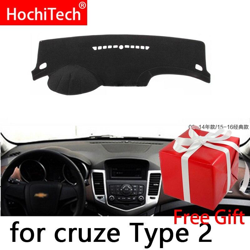Para Chevrolet Cruze 2009 2010 2011-2014 Direito e Esquerdo Covers Mat Sombra Pad Almofada Do Painel Do Carro Da Movimentação Da Mão tapetes Acessórios