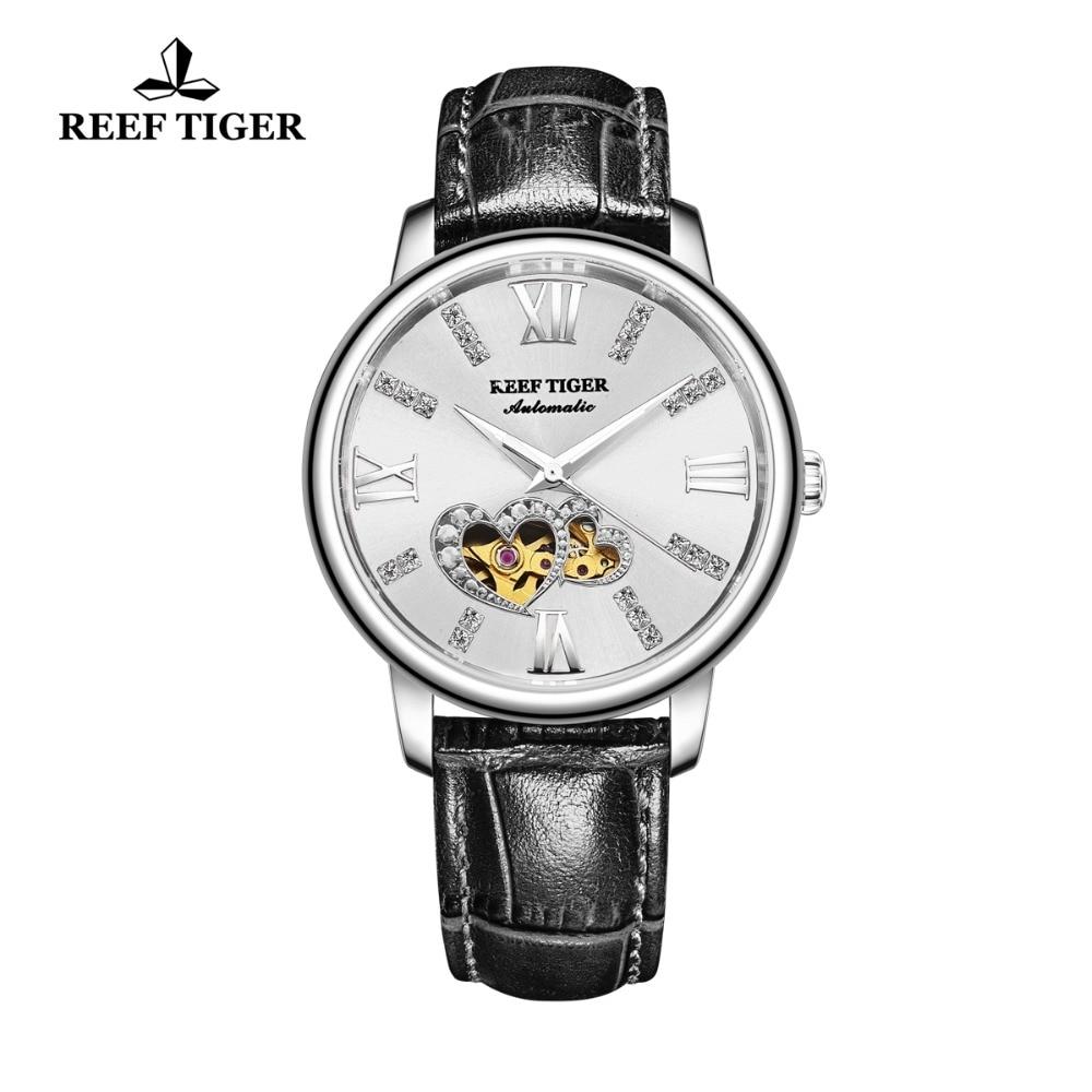 New Reef Tiger/RT Luxury Brand Ladies Watch Waterproof Leather Band Automatic Women Diamond Watches Relogio Feminino RGA1580 enlarge