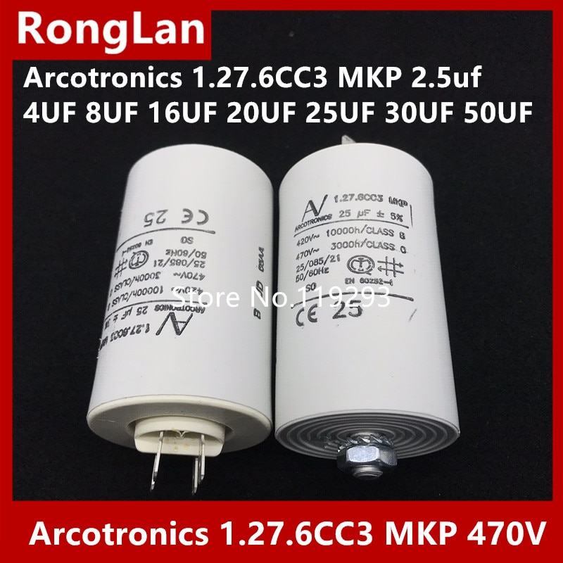 [BELLA] [Original authentic] Arcotronics 1.27.6CC3 MKP 2.5uf 4UF 8UF 16UF 20UF 25UF 30UF 50UF 5% of the motor start capacitors