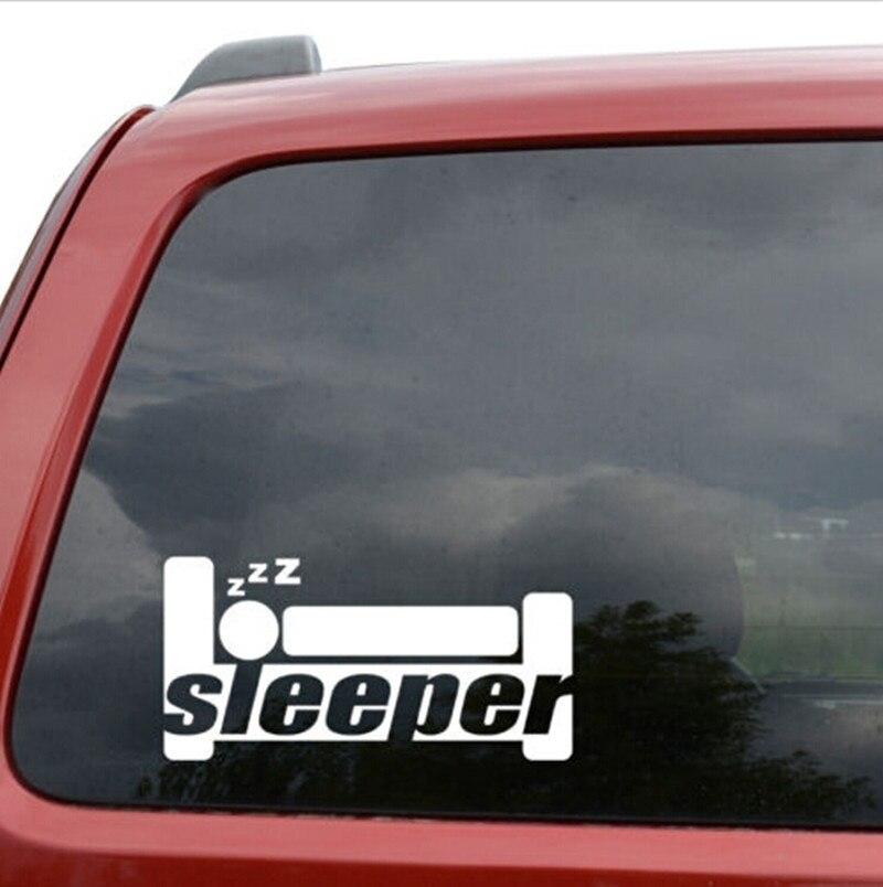 Sleeper JDM Fenster Decor Vinyl Aufkleber Aufkleber 20x9cm