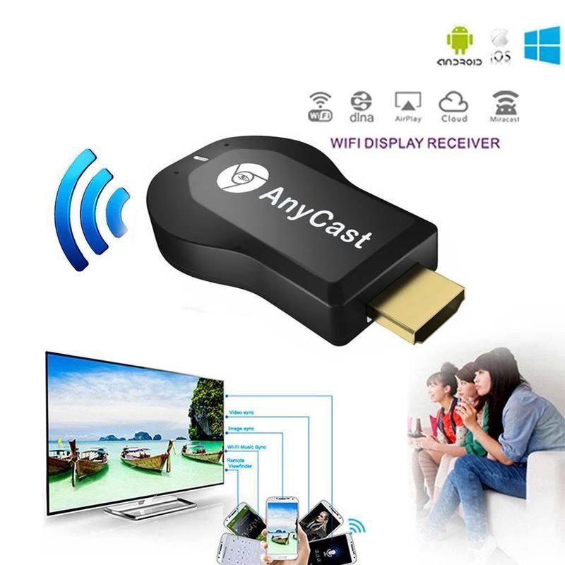 Wireless WiFi Display TV Dongle receptor para AnyCast M2 Plus para Airplay 1080P HDMI TV Stick para DLNA Miracast para teléfonos
