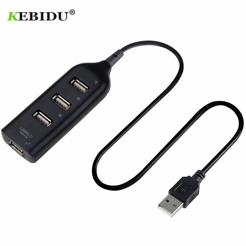 4 kebidu Oi-Velocidade Portas USB Splitter Adaptador Mini USB 2.0 Adaptador 4-Port Splitter Para PC Portátil notebook Para Discos Rígidos Portáteis