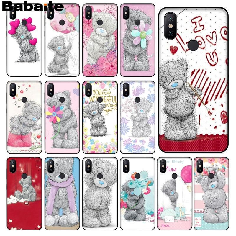 Babaite Tatty Teddy Me oso de peluche cubierta de la caja del teléfono para xiaomi mi 6 8 se A1 A2 Lite Mi5 Mi8Lite Nota 4 5Mix2 2S Max2 3