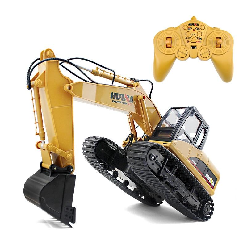 HuiNa Toys 1350 15 каналов 2,4G 1/12 RC экскаватор зарядка 1:12 RC автомобиль с батареей RTG