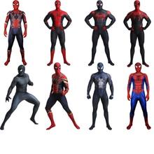 Adult Iron Spider Costume Spider Boy Far From Home Costume Venom Costume Cosplay Halloween Superhero Costume Men Suit Jumpsuit