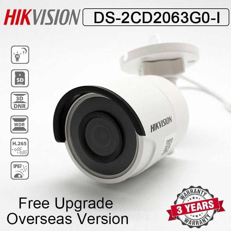 Hikvision DS-2CD2063G0-I 6MP IR fijo cámara de red tipo bala H.265 POE IR30m ranura para tarjeta SD IP67 reemplazar DS-2CD2085FWD-I cámara IP
