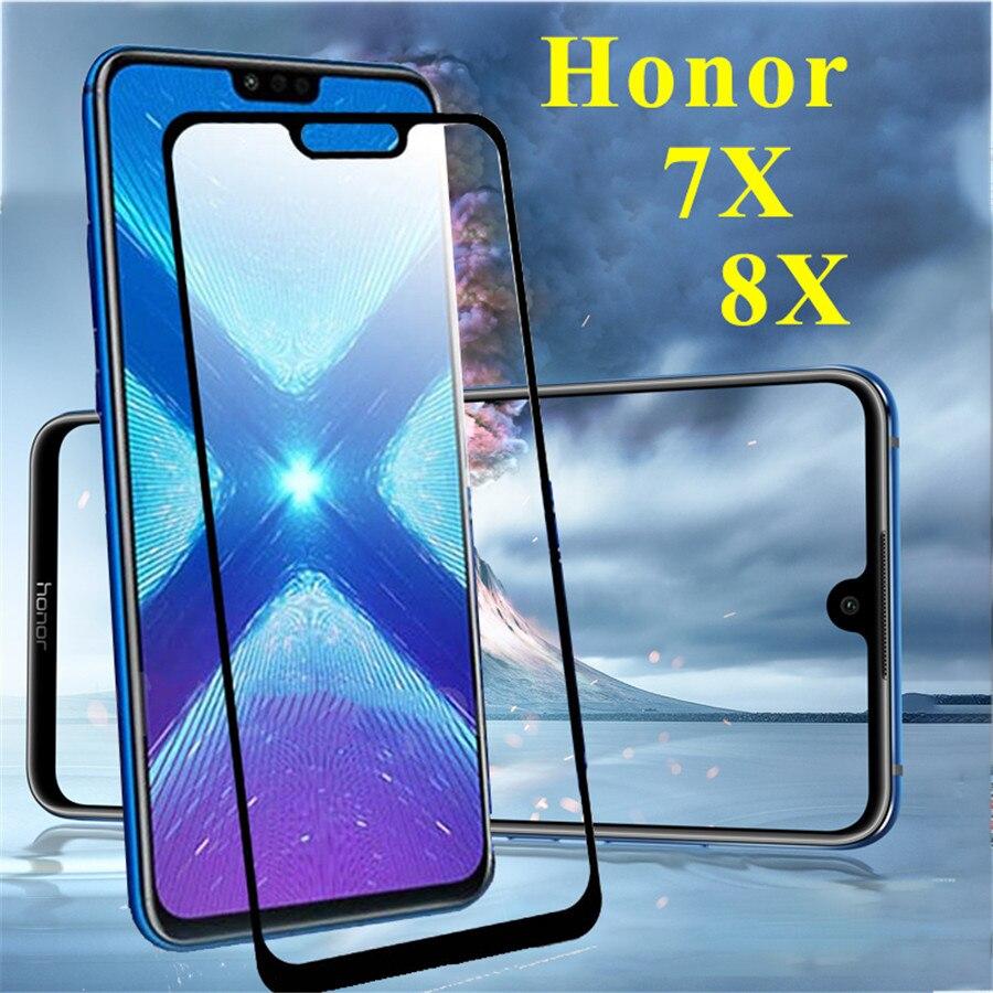 Vidrio para honor 8x 7x max vidrio templado para huawei 8xmax 8 7 x 8x 7x s protector de pantalla funda protectora de teléfono honor 8x funda