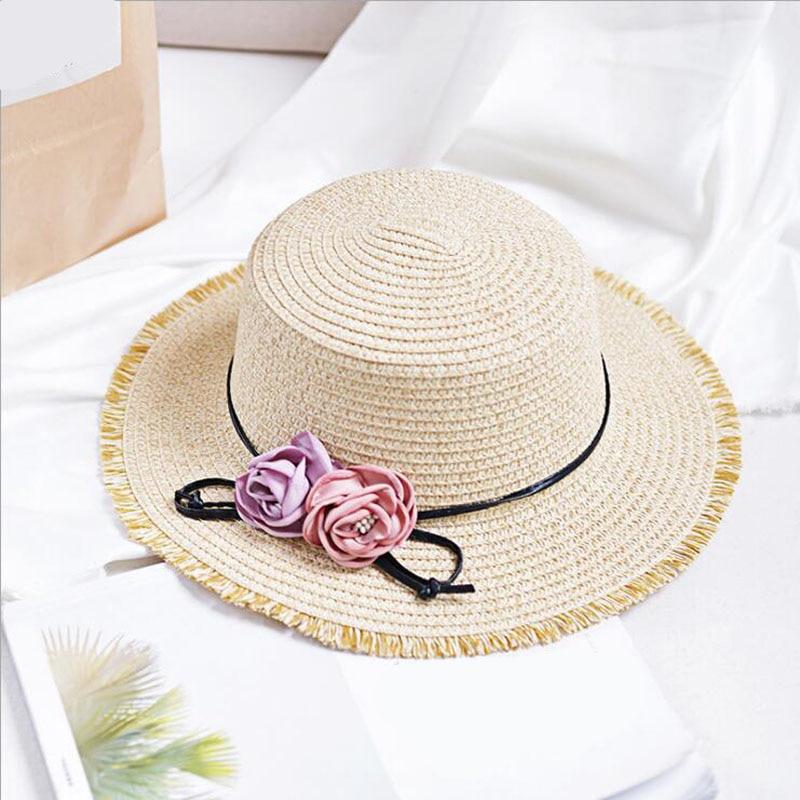 Шляпа женская Соломенная с широкими полями элегантная Солнцезащитная пляжная
