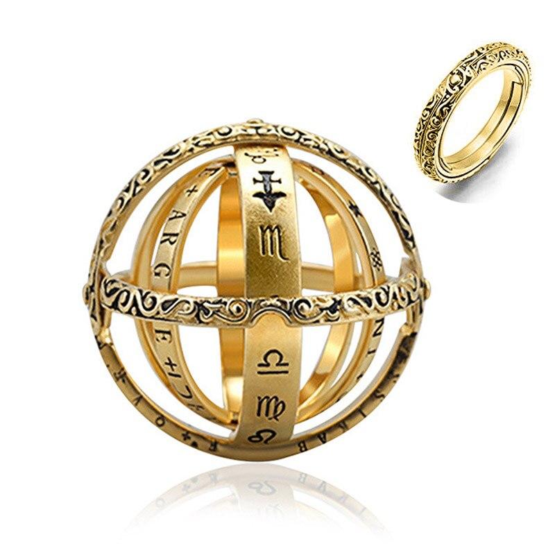 Astronomische Kugel Ball Ring Offene Medaillon Cosmical Finger Ring Paar Liebhaber Schmuck IN DER NÄHE IST LIEBE OFFENE IST WELT Unisex Geschenke
