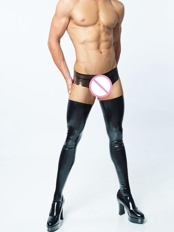 2017 Fashion sexy men 's socks Spandex male stockings men socks  2 colors socks men high elastic stocking