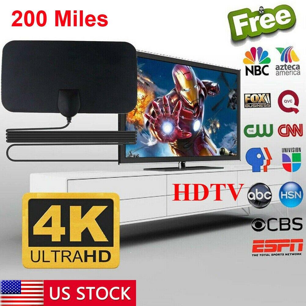 200 миля диапазонная антенна Smart tv цифровая HD Skywire 4K комнатная антенна HD tv 1080p усилитель