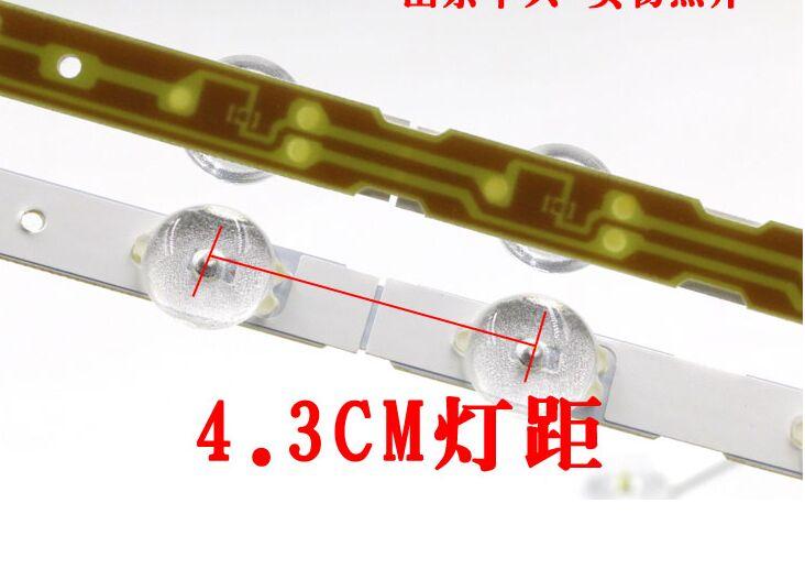 "10 Uds x 47 pulgadas Original tiras LED CH47L31A M470F13 w/lente filtro para ChangHong 47 ""TV de Panel de luz lámparas 12-LEDs 55cm"