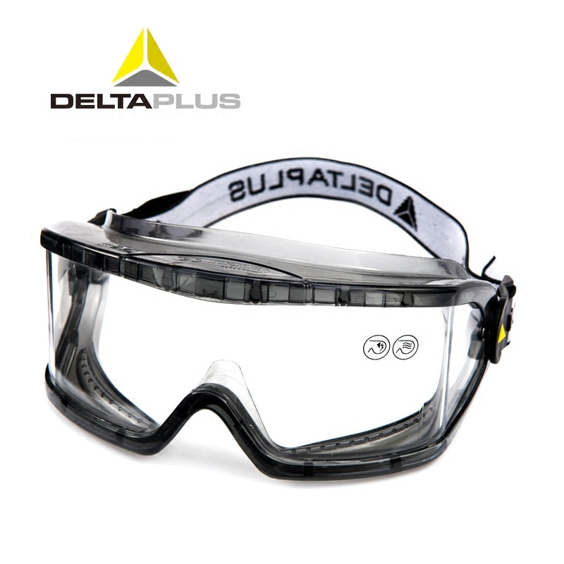 DELTAPLUS Safety Goggles Anti-Impact Anti chemical splash Protective Glasses Goggles Lab Labor Eye P