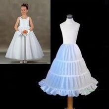 Nieuwe Witte Kinderen Petticoat 2018 A-lijn 3 Hoops Kids Crinoline Bridal Onderrok Bruiloft Accessoires Voor Bloem Meisje Jurk