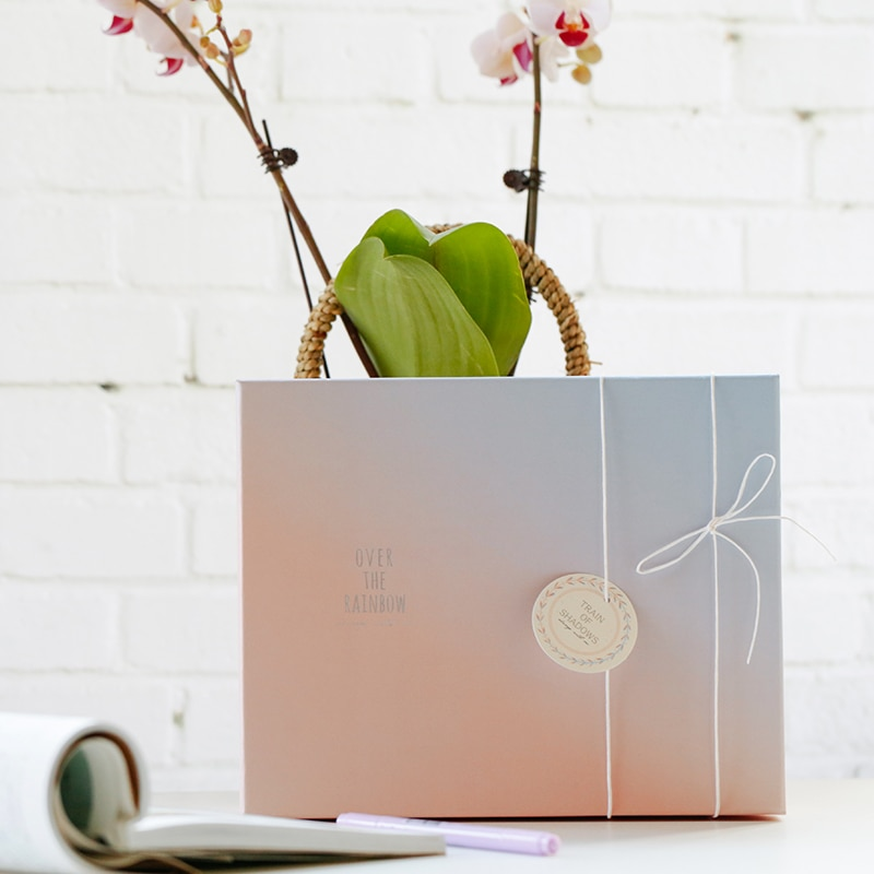 1 шт. граудатированная Тонирующая Подарочная коробка, бумажная коробка конфет, подарочная упаковочная коробка для хранения, упаковочные ма...