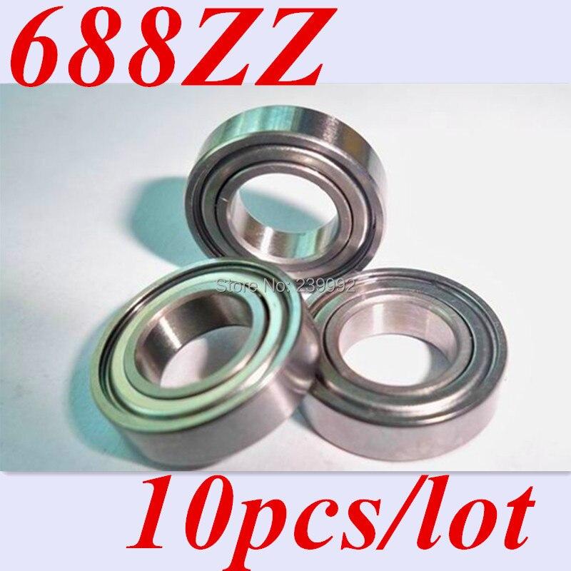 Frete grátis 10 pçs 688zz 688z 688 ABEC-5 8*16*5 em miniatura bola radial rolamentos rígidos de esferas