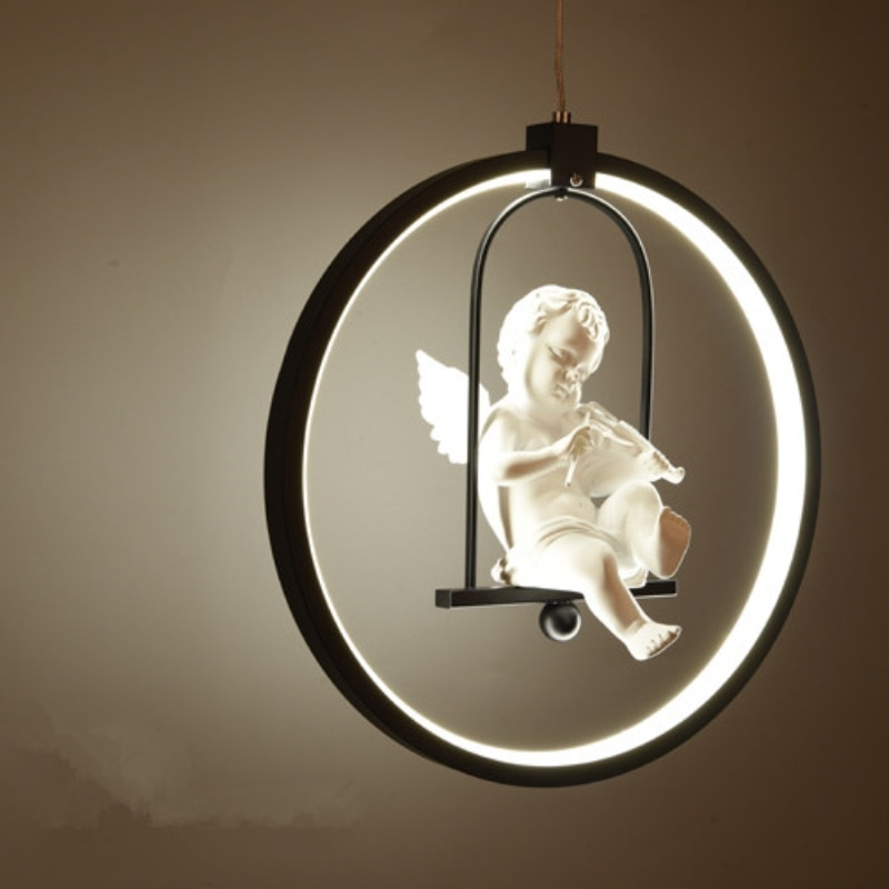 GZMJ Modern Pendant Light hanging lamps Round Acrylic Decorative Led Pendant Lamp for Bedroom Corridor Hotel suspension luminair