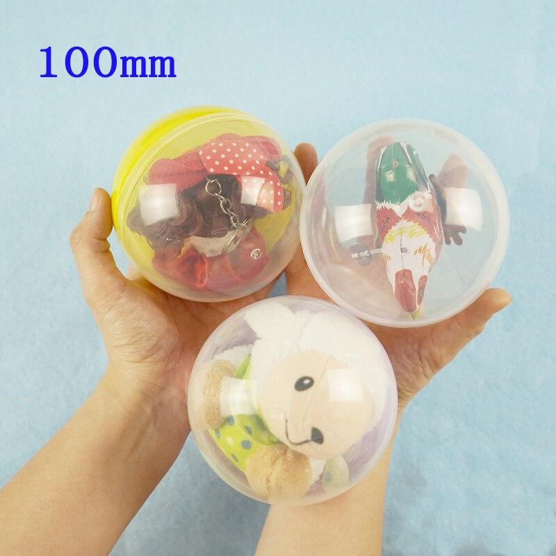 100mm 1 unds/pack de plástico transparente pelota Sorpresa Juguete con capsulas con interior figura diferente máquina expendedora en Shilly huevo bolas