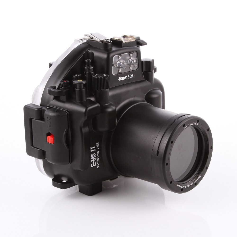 40 м 130 футов водонепроницаемая подводная камера для дайвинга Чехол для Olympus O-MD E-M5 Mark II OMD EM5II + 12-50 f/3,5-6,3 объектив