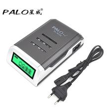 PALO C905W 4 fentes LCD affichage Intelligent chargeur de batterie li-ion Intelligent pour piles rechargeables AA/AAA NiCd NiMh prise ue/US
