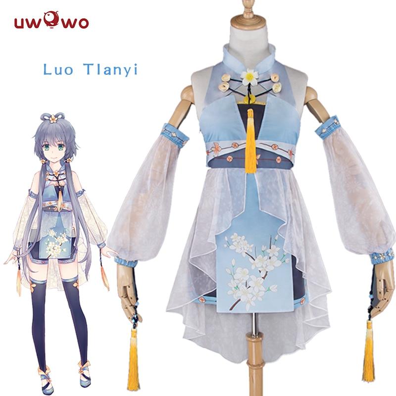 UWOWO Luo Tianyi disfraz de VOCALOID CHINA proyecto lindo traje blanco Kawaii VOCALOID Cosplay Luo Tianyi chino Vestido de estilo