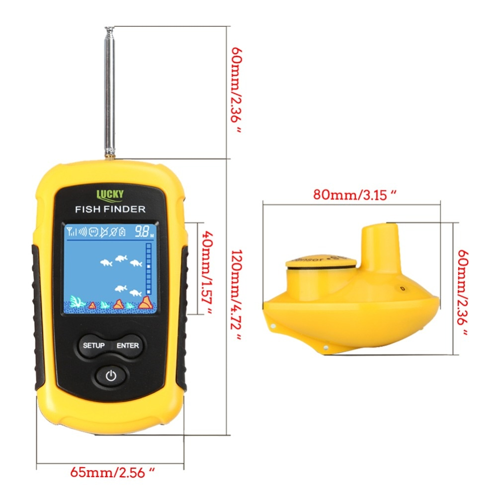120M Wireless Fishing Finder Fishing Lure LCD Color Screen Sonar Echo Sounder Alarm Fish Finder FFCW1108-1 Lucky HT49-0065 enlarge