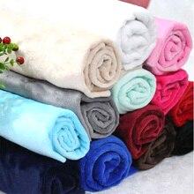 Tissu de velours Monochrome 50cm * 180cm pour vêtements de maison, pyjamas, couverture tissu vêtements décoration artisanat bricolage