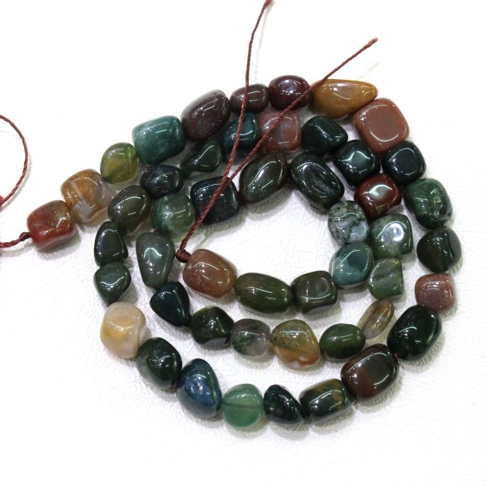 Wholesale Irregular Gravel Shape Natural India Agat Stone 8-10 mm  Beads For Jewelry Making DIY Bracelet Necklace 15'' 40 PCS